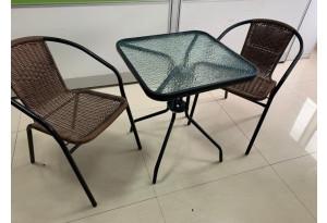Комплект садовый BISTRO с квадратным столом