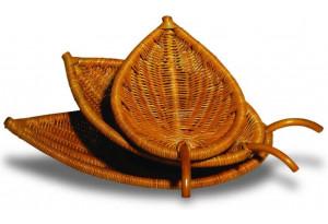 Подносы-чаши в форме листьев