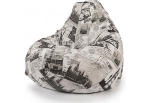 Кресло мешок Груша в принтованной ткани