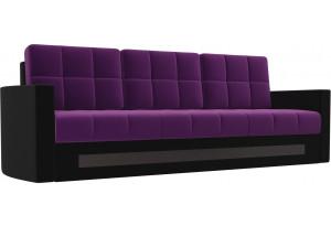 Диван прямой Белла Фиолетовый/Черный (Микровельвет)