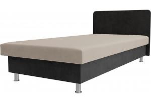 Кровать Мальта бежевый/Серый (Велюр)