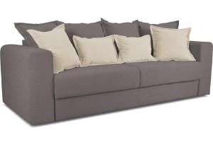 Диван «Раймонд» Neo 12 (рогожка) коричневый, подушка Neo 02 (рогожка) бежевый