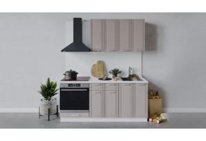 Кухонный гарнитур «Ольга» длиной 180 см со шкафом НБ (Белый/Кремовый)