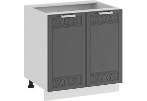 Шкаф напольный с двумя дверями «Долорес» (Белый/Титан)
