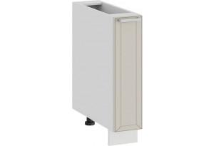 Шкаф напольный с выдвижной корзиной «Долорес» (Белый/Крем)