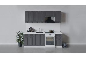 Кухонный гарнитур «Лина» длиной 220 см (Белый/Графит)
