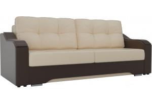 Прямой диван Браун бежевый/коричневый (Экокожа)