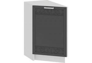 Шкаф напольный торцевой с одной дверью «Долорес» (Белый/Титан)