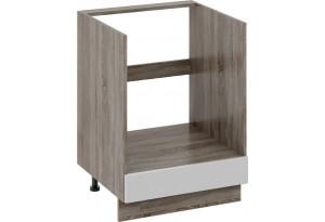 Шкаф напольный под бытовую технику с 1-м ящиком Дуб Сонома трюфель/Крем