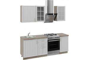 Кухонный гарнитур длиной - 210 см Дуб Сонома трюфель/Крем