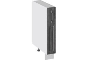 Шкаф напольный с выдвижной корзиной (ПРОВАНС (Белый глянец/Санторини темный))
