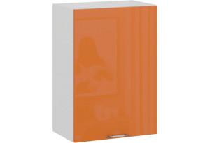 Шкаф навесной c одной дверью «Весна» (Белый/Оранж глянец)
