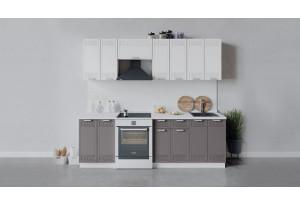 Кухонный гарнитур «Долорес» длиной 240 см (Белый/Сноу/Муссон)