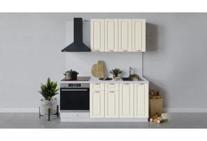 Кухонный гарнитур «Лина» длиной 180 см со шкафом НБ (Белый/Крем)
