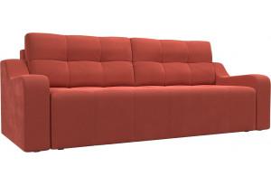 Прямой диван Итон Коралловый (Микровельвет)