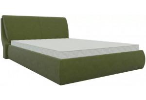 Интерьерная кровать Принцесса Зеленый (Микровельвет)