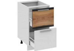 Шкаф напольный с 2-мя ящиками Фэнтези (Вуд)