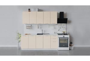 Кухонный гарнитур «Весна» длиной 200 см (Белый/Ваниль глянец)