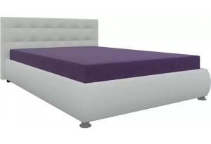 Тахта - кровать Рио Фиолетовый/Белый (Микровельвет)