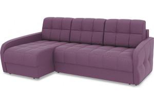 Диван угловой левый «Аспен Slim Т2» (Kolibri Violet (велюр) фиолетовый)