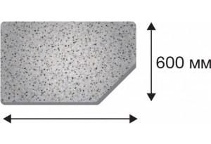 Крышка стола в размер торцевая правая от 400 до 1500 (БЕЛАЯ ИСКРА, 40х600х1400 R)