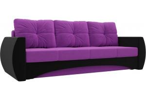 Прямой диван Сатурн Фиолетовый/Черный (Микровельвет)