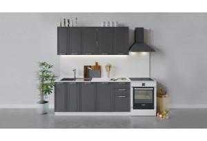 Кухонный гарнитур «Ольга» длиной 180 см (Белый/Графит)