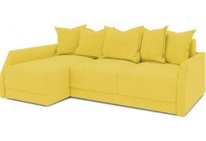 Диван угловой левый «Люксор Slim Т2» (Neo 08 (рогожка) желтый)