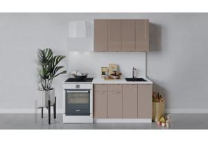 Кухонный гарнитур «Весна» длиной 120 см (Белый/Кофе с молоком)