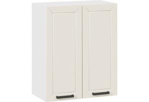 Шкаф навесной c двумя дверями «Лорас» (Белый/Холст брюле)