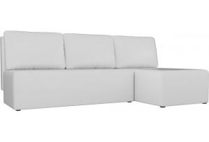 Угловой диван Поло Белый (Экокожа)