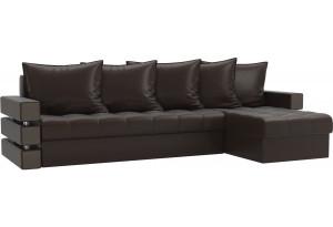 Угловой диван Венеция Коричневый (Экокожа)