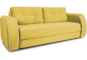 Диван «Хьюго» (Maserati 11 (велюр) желтый кант Beauty 02 (велюр), капучино)