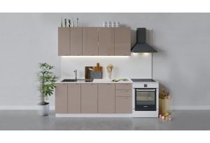 Кухонный гарнитур «Весна» длиной 180 см (Белый/Кофе с молоком)