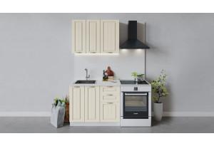 Кухонный гарнитур «Лина» длиной 100 см (Белый/Крем)