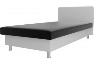 Кровать Мальта Черный/Белый (Экокожа)