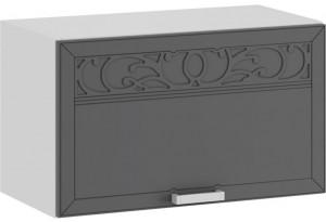 Шкаф навесной c одной откидной дверью «Долорес» (Белый/Титан)