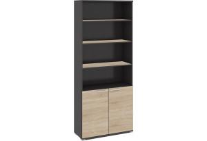 Шкаф для документов с нишей и 2-мя дверями «Успех-2» Венге Цаво, Дуб Сонома