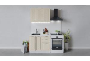 Кухонный гарнитур «Бьянка» длиной 100 см (Белый/Дуб ваниль)