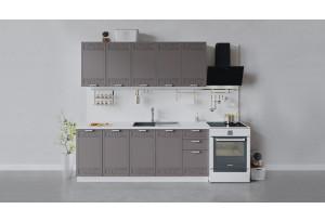Кухонный гарнитур «Долорес» длиной 200 см (Белый/Муссон)