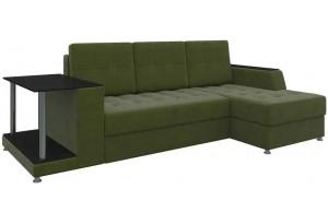 Угловой диван Атланта Зеленый (Микровельвет)