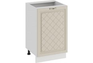 Шкаф напольный с одной дверью «Бьянка» (Белый/Дуб ваниль)