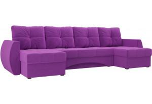 П-образный диван Сатурн Фиолетовый (Микровельвет)