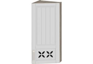 Шкаф навесной торцевой c декором Дуб Сонома трюфель/Крем