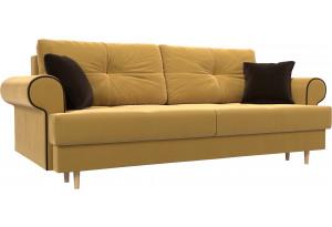 Прямой диван Сплин Желтый (Микровельвет)