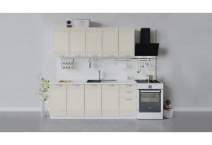 Кухонный гарнитур «Долорес» длиной 200 см (Белый/Крем)