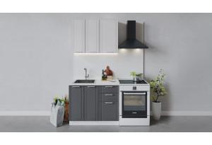 Кухонный гарнитур «Ольга» длиной 100 см (Белый/Белый/Графит)