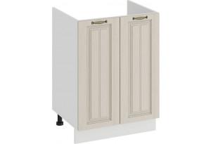 Шкаф напольный с двумя дверями (под накладную мойку) «Лина» (Белый/Крем)