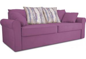 Диван «Шерри» Maserati 18 (велюр) фиолетовый, подушки Tiffani vanilla sky (шинил) ванильное небо