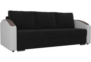 Прямой диван Монако slide Черный/Белый (Велюр/Экокожа)